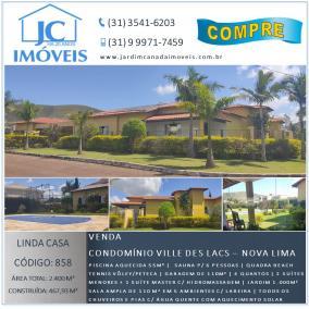 Casa em condomínio   Ville Des Lacs (Nova Lima)   R$  2.000.000,00