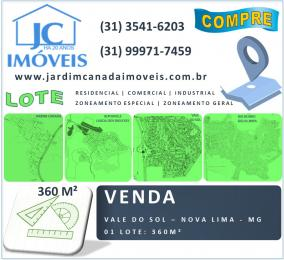 Lote   Vale Do Sol (Nova Lima)   R$  270.000,00