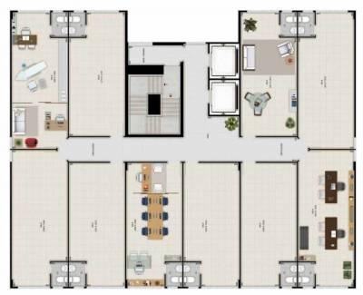 Sala de 32,00m²,  à venda