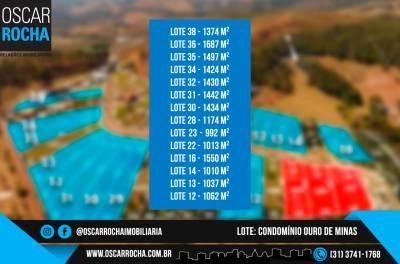 Lotes em Condomínio de 1.037,00m²,  à venda