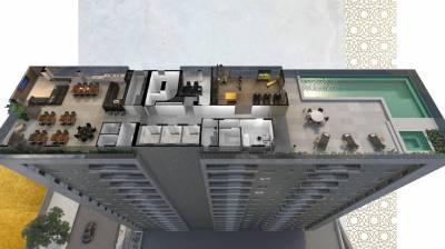 Apartamento de 33,49m²,  à venda