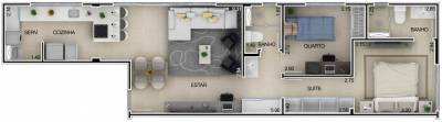 Apartamento de 67,40m²,  à venda