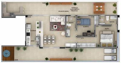 Apartamento de 140,59m²,  à venda