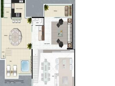 Apartamento de 193,00m²,  à venda