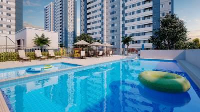 Apartamento de 54,23m²,  à venda